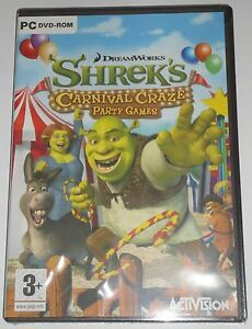 SHREK'S CARNIVAL CRAZE PARTY GAMES PC DVD-ROM GAME brand new & sealed UK !