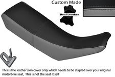 BLACK & GREY CUSTOM FITS YAMAHA DT 125 R DTR 99-03 DUAL LEATHER SEAT COVER