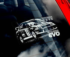 Mitsubishi Lancer Evo-Rallye Voiture Fenêtre Autocollant-Tommi Makinen WRC 4,5,6,7,8,9