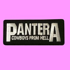 Pantera Cowboy From hell Rock And Roll Music Embroidered Sew Iron On Patch