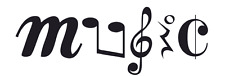 Music in Symbols - Sticker / Decal or Stencil  #1035 - Made to Order