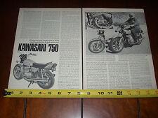 1972 KAWASAKI 750 MACH IV TRIPLE - ORIGINAL VINTAGE ARTICLE   IF SUPERMAN RODE