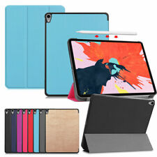 """For iPad Pro 11"""" 12.9"""" 2018/2020 Leather Smart Folio Stand Protective Case Cover"""