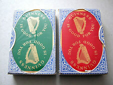 GUINNESS 1950s BREWERY VINTAGE PLAYING CARDS TWIN DUTY SEALED DECKS BOXED