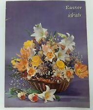 Easter Ideals March 1972 Book Vtg 70s Magazine Illustrated Flower Basket Poems