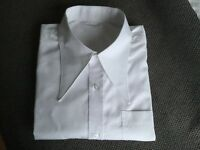 "Men's white 1940's vintage style WWII 18.5"" spearpoint collar shirt"