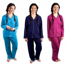 Cotton Patternless Pyjama Sets for Women