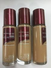 3 X Maybelline Instant Age Rewind Foundation SANDY BEIGE (MEDIUM-1) NEW