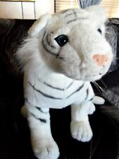 "Large 22"" plush stuffed White Tiger Cat"