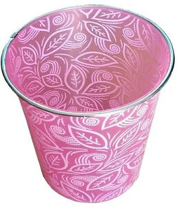 NEW MODERN FLORAL WASTE BIN RUBBISH BIN HOME OFFICE WASTE PAPER BEDROOM BIN