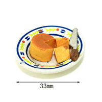 1:12 Miniature Cheesecake Dollhouse Diy Doll House Decor Accessories FE