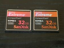 2 x 32GB Extreme 60MB/s UDMA CF Compactflash Memory Cards Bulk Job Lot 1