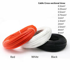 Silicone Rubber High Temp Cable Fiberglass + Resin Braided Tinned Copper Wire