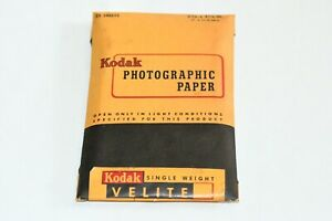 "OPEN Vintage Kodak Velite Photographic Paper 2-3/4"" x 4-1/2"" Exp May 1951 AS IS"