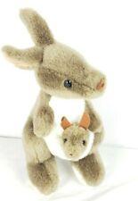 "Kangaroo With Joey In Pouch Stuffed Plush Animal Australian Toys 12"" by Windmill"