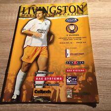 Livingston v Dundee 2002/03