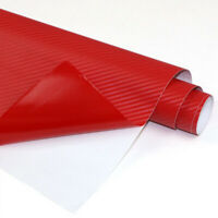 1x Auto Panel 3D Sticker Decal Decoration Interior Red Trim Wrap Mouldings Parts