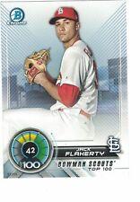 2018 Bowman Scouts' Top 100 5x7 /49 #42 Jack Flaherty St. Louis Cardinals