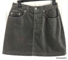 Gap 6 Charcoal Gray Velvet A Line Career Weekend Skirt