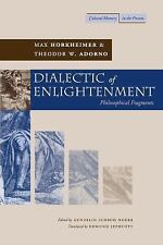 Cultural Memory in the Present: Dialectic of Enlightenment by Theodor W....
