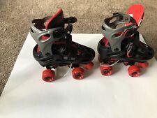 Roller Derby Boys size 3-6 Adjustable Red and Black Skates