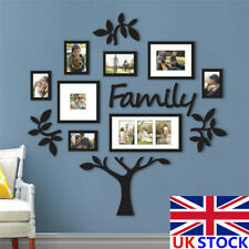 UK Oversize Acrylic Family Tree Frame Photo Picture Collage Wall Christmas Decor