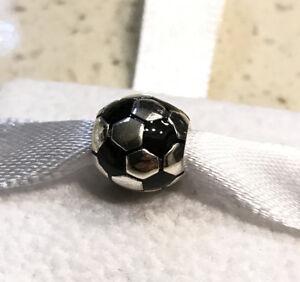 Pandora Soccer Ball, Football, Black Enamel, Charm #790406 +FREE Gift Box +Tag