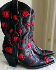 LUXUS OLD GRINGO BLACK RED TOOLED COWBOYSTIEFEL WESTERN BOOTS GR.37 ,UK 4.5