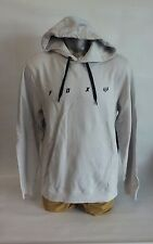 Fox racing pullover hoodie light grey size large (a1)