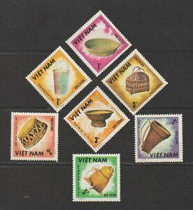1986 Vietnam stamps Complete Handicrafts Set Collection Sc # 1715 - 1721 MNH
