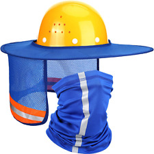 2 Pieces Hard Hat Sun Shade Neck Protection High Visibility Sun Neck Shield Full