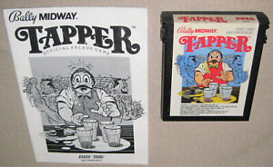 Tapper (Atari 2600, 1984) w/ Manual, Authentic