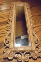 Vintage Mid-Century Modern Ornate #2374 Home Interior Gold-Tone Mirror      61