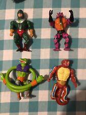 Vintage MOTU He-Man Figure Lot- King Hiss, Sssqueeze, Rattlor, & Tung Lashor