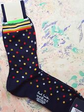 Paul Smith Mens Italian Socks Multi Mixer Navy & Multicolour K528 OneSize Cotton