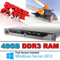 Dell PowerEdge R610 2 x Quad Core XEON X5550 2.66Ghz 48GB 2 x 146gb SAS Perc 6i