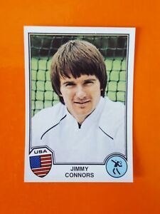 JIMMY CONNORS ROOKIE 319 STICKER PANINI EUROFOOTBALL SPORT SUPERSTARS 1982 RARE