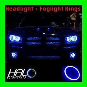 2006-2010 DODGE CHARGER BLUE PLASMA HEADLIGHT + FOG LIGHT HALO KIT by ORACLE