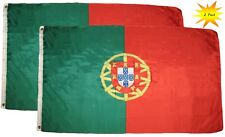 Portugal Flags - 2 Pack Outdoor 3x5 Feet Portugal Flags Portuguese National Flag