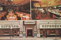 Vintage Postcard Chrome Hofbrau Restaurant New York NY Barvarian