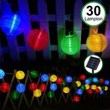 Waterproof Solar30Led Lantern String Fair strip Lights for Christmas Garden Yard
