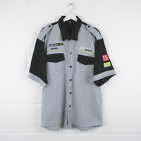 Vintage OPEL RACING Motorsport Short Sleeved Grey Shirt Size Mens XXL /R33078