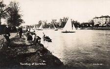 YACHTING AT SURBITON - Surrey - Real Photo Postcard (2.09)