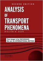 Analysis of Transport Phenomena by Professor William M Deen(Int' Ed Paperback)2e