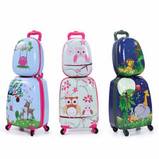 2Pcs Carry On Luggage Kids Rolling Suitcase Backpack w/Wheels Travel Trolley ABS