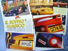 AUTO995-RITAGLIO/CLIPPING/NEWS-1995-TRE MAZDA MX-5 TURBO - 5 fogli