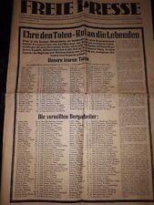Original Ausgabe Freie Presse 27 Februar 1960