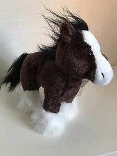 New Ganz Webkinz Adopt A Pet Brown White Pony 9' In HM139 sealed code tag