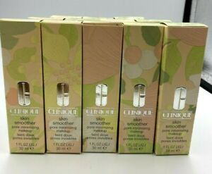 CLINIQUE SKIN SMOOTHER PORE MINIMIZING MAKEUP Choose Shade New in box FREE SHIP