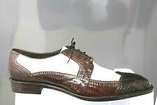 37a7556073864 Belvedere 1458 Alex Exotic Caiman Spectator Wing Tip Oxford Dress Shoe Mens  13